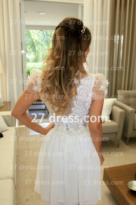 Prom De Short White Lace Cocktail Dress UK with New Arrival Sexy Gowns Vestidos Fiesta Sleeves_3