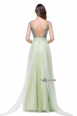 Scoop-Neckline A-line Sleevless Charming Long Crystal Chiffon Prom-Dress UK_1