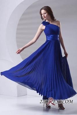 One-Shoulder Simple Chiffon Royal-Blue A-Line Bridesmaid Dress UKes UK_3