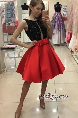 Sequined Bowknot A-Line Sexy Sleeveless Short Homecoming Dress UKes UK_2