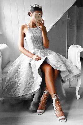 Gorgeous Hi-Lo Lace Sleeveless Short Prom Dress UK BA6799_1