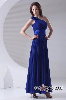 One-Shoulder Simple Chiffon Royal-Blue A-Line Bridesmaid Dress UKes UK_6