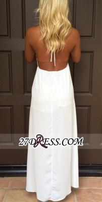 Backless White Maxi Attractive Halter V-Neck Summer Prom Dress UKes UK_2