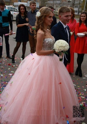 Elegant Sweetheart Sleeveless Tulle Wedding Dress Ball Gown With Beadss_2