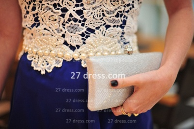New Arrival Royal Blue Cocktail Gowns White Vestidos De Fiesta Sexy Lace Top_3