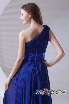 One-Shoulder Simple Chiffon Royal-Blue A-Line Bridesmaid Dress UKes UK_5