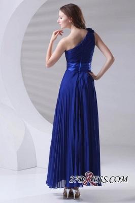 One-Shoulder Simple Chiffon Royal-Blue A-Line Bridesmaid Dress UKes UK_4