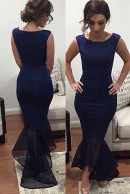 Newest Jewel Mermaid Ruffles Prom Dress UK Sleeveless_1