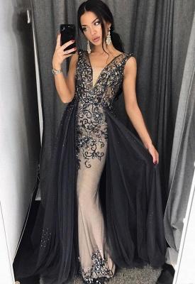 Delicate Lace Beading Prom Dress UK | V-neck Prom Dress UK_1