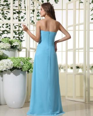 Sexy Strapless Bridesmaid Dress UK | Mermaid Chiffon Maid Of Honor Bridesmaid Dress UK_5