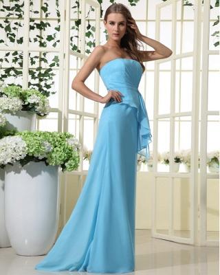 Sexy Strapless Bridesmaid Dress UK | Mermaid Chiffon Maid Of Honor Bridesmaid Dress UK_3