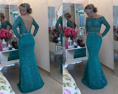 Elegant Black Lace Prom Dress UK   Long Evening Gowns_2