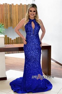Royal blue crystal evening Dress UK, prom Dress UK_2