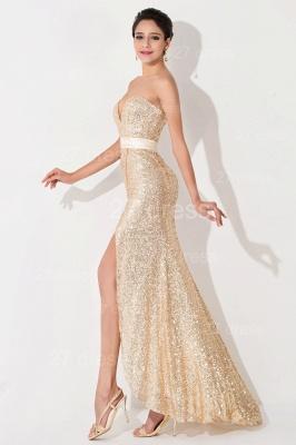 Elegant Sequins Front Split Evening Dress UK Sweetheart Sleeveless_3