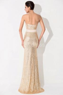 Elegant Sequins Front Split Evening Dress UK Sweetheart Sleeveless_4