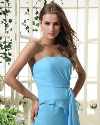 Sexy Strapless Bridesmaid Dress UK | Mermaid Chiffon Maid Of Honor Bridesmaid Dress UK_4