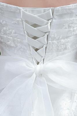 Modern Sweetheart Princess Wedding Dress Lace-up Beadss Bowknot_3