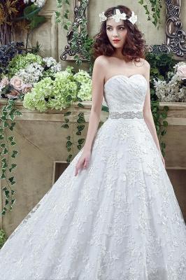 Modern Sweetheart Princess Wedding Dress Lace-up Beadss Bowknot_5