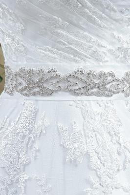 Modern Sweetheart Princess Wedding Dress Lace-up Beadss Bowknot_1