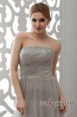 Strapless Floral Sexy A-Line Tulle Bridesmaid Dress UKes UK_5