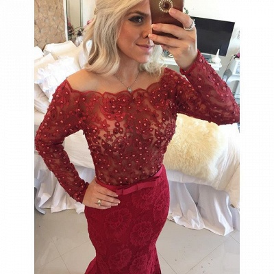 Elegant Black Lace Prom Dress UK   Long Evening Gowns_3
