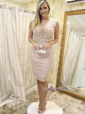 Lace tight short prom Dress UK, homecoming Dress UK_4