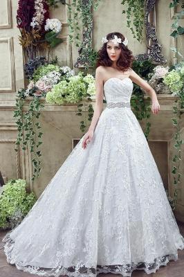 Modern Sweetheart Princess Wedding Dress Lace-up Beadss Bowknot_7