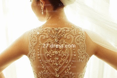 Beaded Bridal Wedding Dresses UK with Sheer Cheap Back Sleeveless Organza A-line Top Court Train Gowns Buttons_5