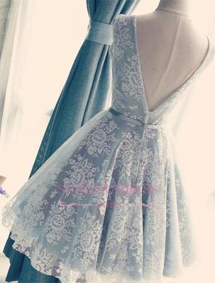 Lace Gorgeous Sleeveless V-Neck Short A-Line Homecoming Dress UKes UK_1