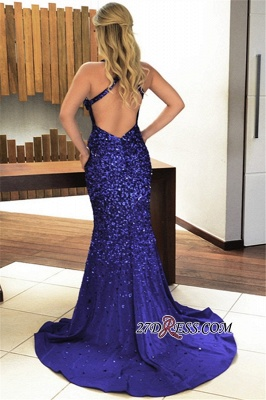 Royal blue crystal evening Dress UK, prom Dress UK_1