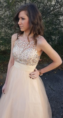 Sexy Sleeveless Prom Dress UK Tulle Crystal Evening Gowns_1