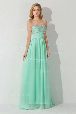 Modern Chiffon A-line Crystals Evening Dress UK Sweetheart Sleeveless_1