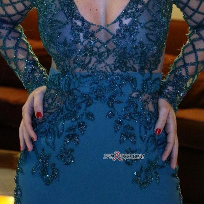Long sleeve prom Dress UK, mermaid party gowns_1