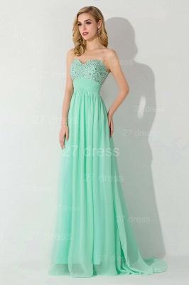 Modern Chiffon A-line Crystals Evening Dress UK Sweetheart Sleeveless_3