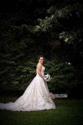 Lace Tulle Spaghetti-Strap Gorgeous Sweetheart Plus-Size Wedding Dress_2