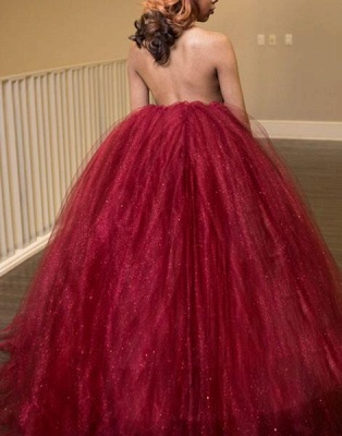 Luxury High-Neck Tulle Evening Dress UK Ball Gown Prom Dress UK_2