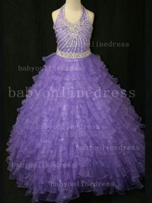 Beaded Ball Gown Dresses for Girls with Hot Sale Formal Gowns Teens Summer Layered Pageant Shops_5