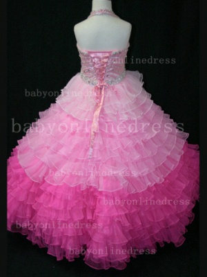 Beaded Ball Gown Dresses for Girls with Hot Sale Formal Gowns Teens Summer Layered Pageant Shops_2