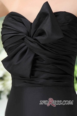 Bows Elegant Sleeveless Sweetheart A-Line Black Mini Bridesmaid Dress UKes UK_1