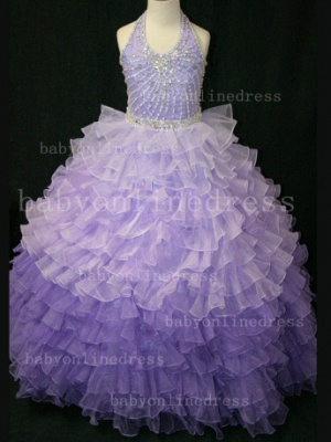 Beaded Ball Gown Dresses for Girls with Hot Sale Formal Gowns Teens Summer Layered Pageant Shops_6