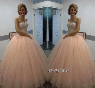 Sweetheart Ball-Gown Tulle Beautiful Sequins Evening Dress UK_1