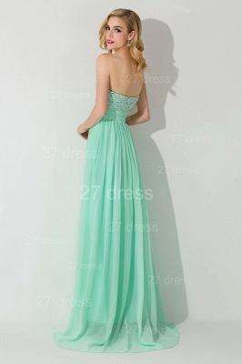 Modern Chiffon A-line Crystals Evening Dress UK Sweetheart Sleeveless_2