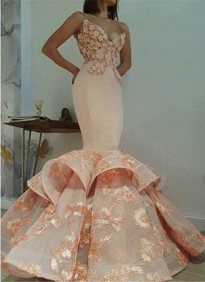 Newest Lace Sweetheart Mermaid Sleeveless Prom Dress UK BA9645_1