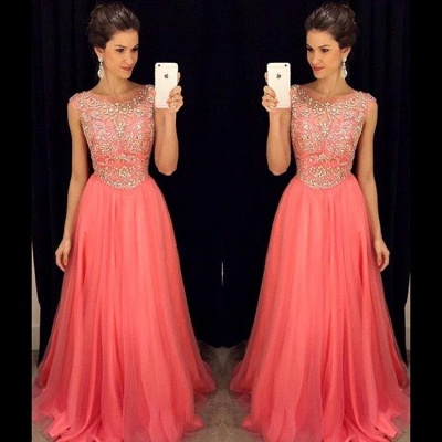 Newest Crystal Jewel Prom Dress UK A-line Sleeveless AP0_3