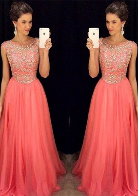 Newest Crystal Jewel Prom Dress UK A-line Sleeveless AP0_1
