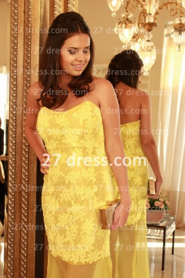 Applique Long Lace Prom Dress UKes UK with Vestidos De Fiesta Yellow Gowns for Evenings Sweetheart Mermaid Prom_2