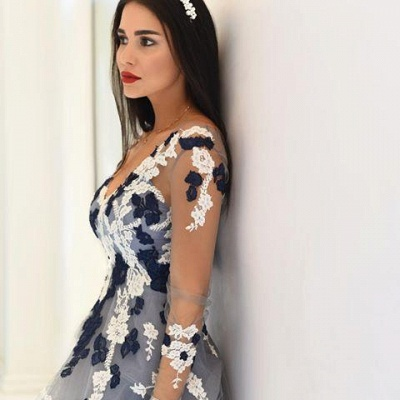 Long-Sleeve Appliques V-neck Lace Sheer Popular Prom Dress UKes UK BA4264_2