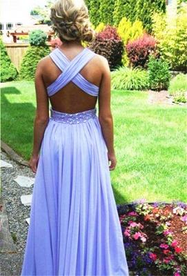 Sexy Criss-cross Long Chiffon Prom Dress UKes UK With Beadings Bridesmaid Dress UKes UK_2