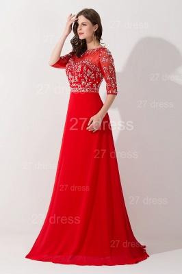 Gorgeous Red Half Sleeve Evening Dress UK Chiffon Beadings_3