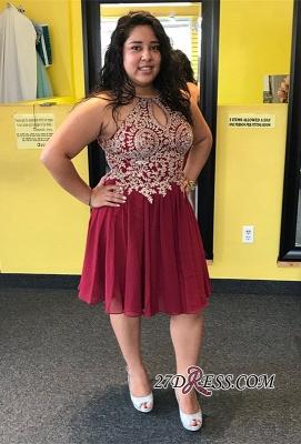 Plus size homecoming Dress UK, lace burgundy prom Dress UK_2